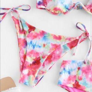 Tie-Dye Zaful Bikini Bottoms